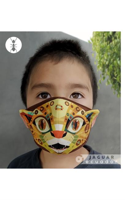 """Imagen de """"JAGUAR"""" Mascarilla infantil - unisex"""